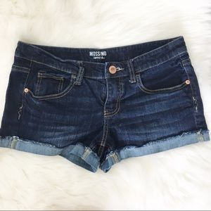 mossimo | denim jean shorts cuffed dark size 11